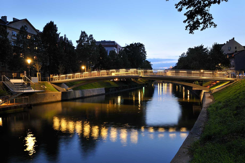 Žitni most (Getreidebrücke) Spende an die Stadt Ljubljana
